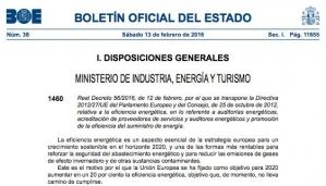 Resumén del Real Decreto 56/2016